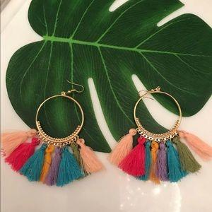 BNWT colorful tassel earrings